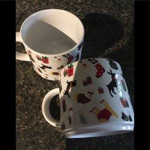 2 new large cups christmas animal theme
